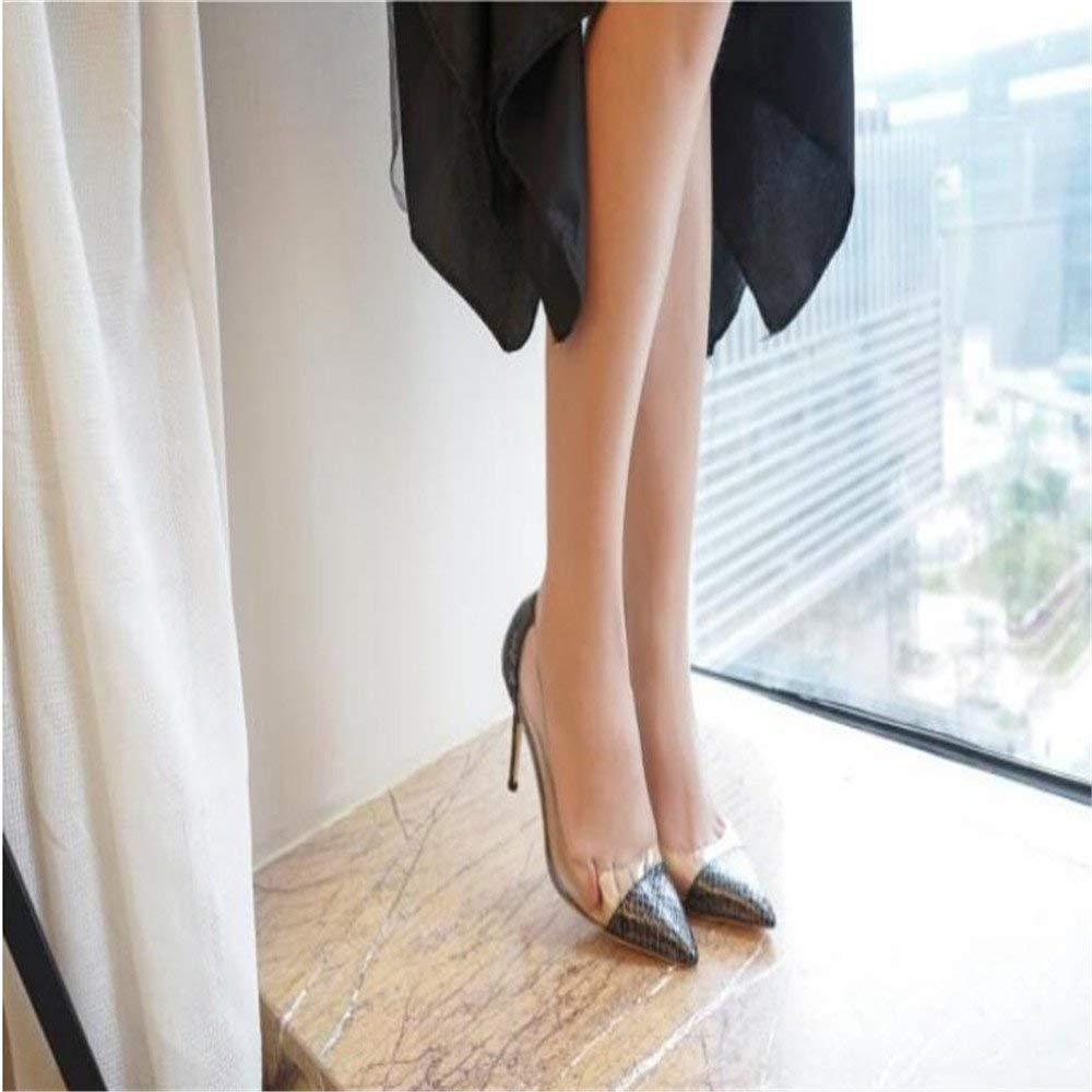 Gericht Schuhe Tipps gut mit High Heels weiblich war dünn Gold Silber Wilde Flut Zeigen Schuhe Frauen Hochzeitsschuhe (Farbe   33, Größe   schwarz 10CM)