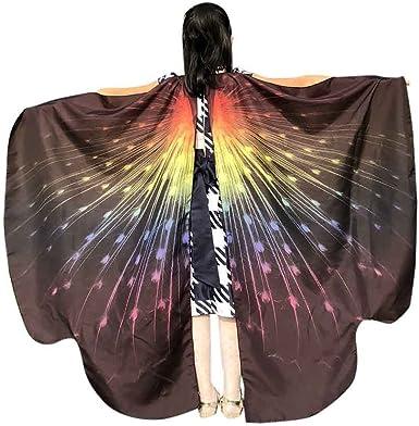 BaZhaHei Disfraz de Alas de Mariposa para Mujer Mariposa Chal Hada ...