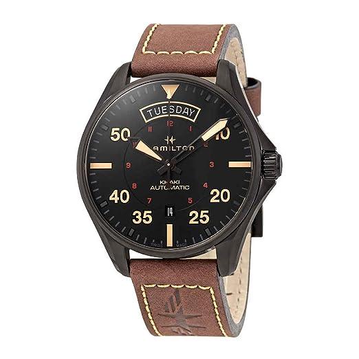Reloj Hamilton Khaki Pilot H64605531 Automático Diámetro 42 mm: Amazon.es: Relojes