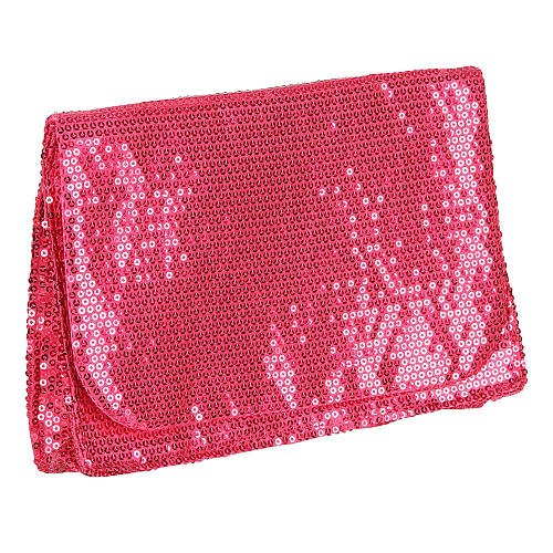 Pink Sequin Clutch Truly Fashion