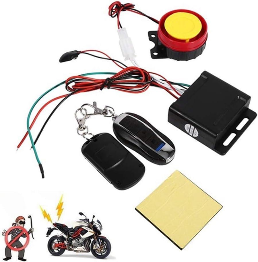 MZY1188 Immobilisateur dalarme Moto-Scooter avec d/émarrage /à Distance du Moteur 12v Double t/él/écommande Universelle syst/ème dalarme Moto de Moto Scooter antivol de s/écurit/é