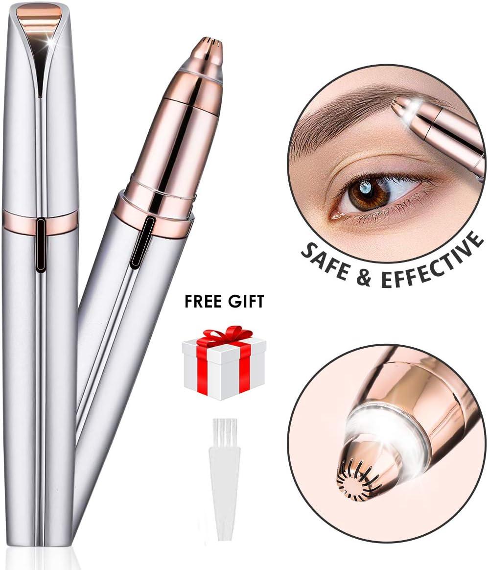 Liumy - Depiladora de cejas Indolor, Brows Trimmer afeitadora, afeitadora de cejas portátil para depilación de cejas (sin batería) rosa: Amazon.es: Belleza