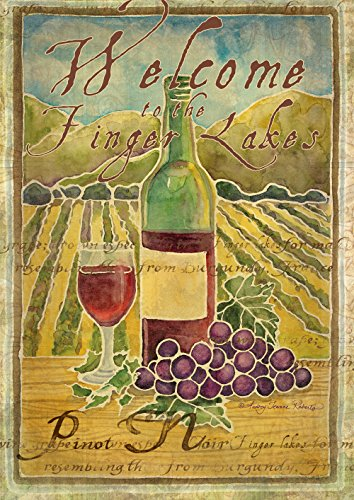 Toland Home Garden Pinot Noir Welcome to The Finger Lakes 12.5 x 18 Inch Decorative Garden Flag ()
