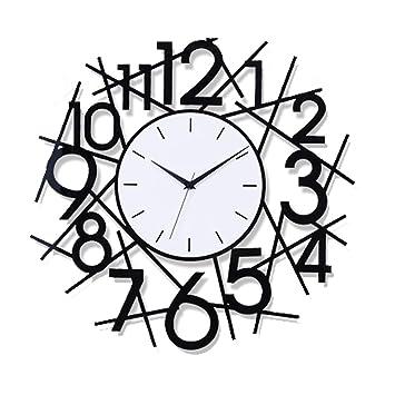 MSQL Reloj De Pared Silencioso Digital Reloj De Pared Moderno Minimalista Decoración para El Hogar Reloj De Pared Irregular con Pilas, con Etiqueta Adhesiva ...