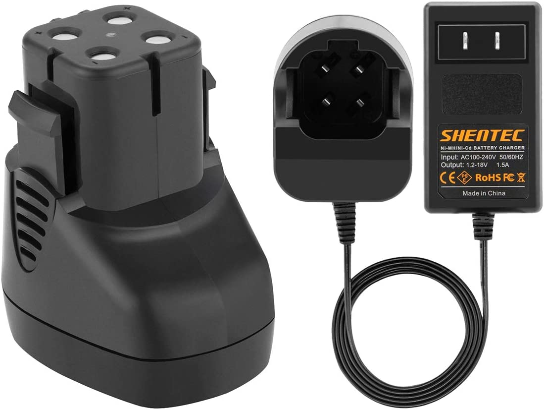 Shentec 3500mAh 7.2V Replacement Battery Compatible with Dremel 757-01 Dremel 7700-01 Dremel 7700-02, 7.2V Battery (Battery Charger Include)