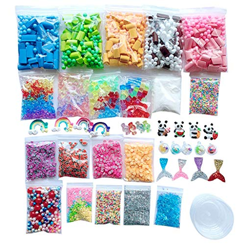 Redvive Top Slime Supplies Kit Foam Beads Charms Styrofoam Balls Tools for DIY Slime Making