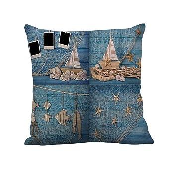 4b864e3c5c1 New Clearance! Noopvan Sea View Printing Throw Pillow Case Decorative  Cushion Cover Pillowcase 18 quot