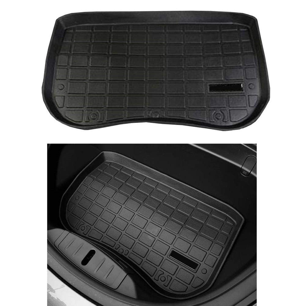 Vehicle Front and Rear Cargo Tray Storage Trunk Waterproof Protective Floor Rubber Pads Protector Car Styling Accessories Ingenious windowew Car Rear Trunk Storage Mat for Tesla Model 3