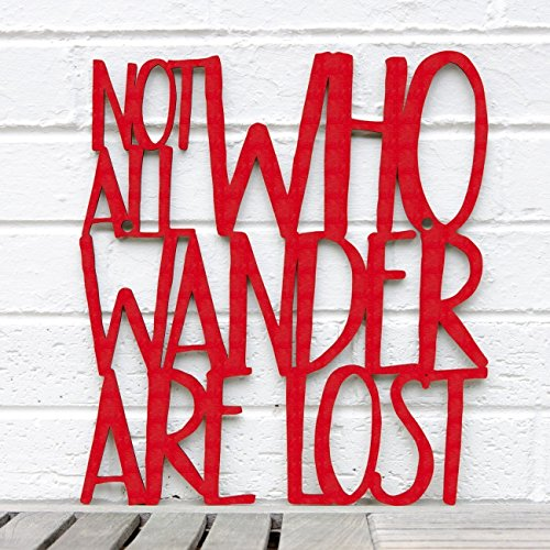 Not All Who Wander Are Lost Wood Wall Art - LOTR Quote Sign - Lord Of The Rings Decor