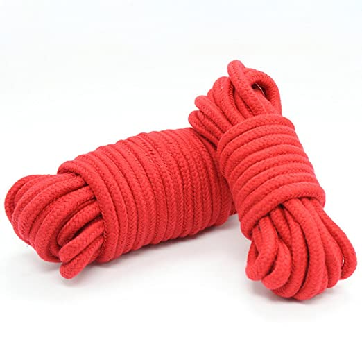 UWIME 3 Unidades de Cuerda de Amarre de algod/ón Trenzado Suave de 10 Metros Multicolor