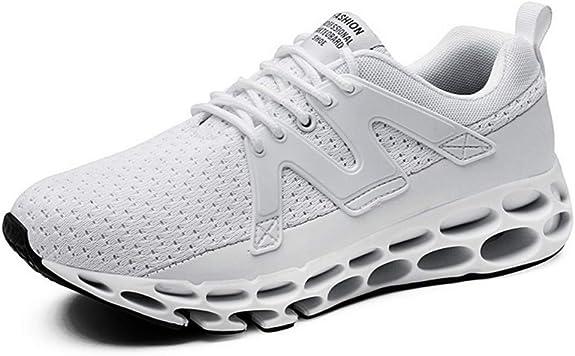 Zapatillas Deportivas para Correr con Muelle y Muelle, Negro (Blanco), 42 EU: Amazon.es: Zapatos y complementos