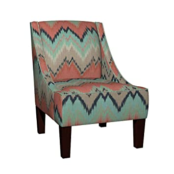 Etonnant Roostery Venda Sloped Arm Accent Chair   Chevron Eco Canvas   Large Scale  Ikat Chevron In