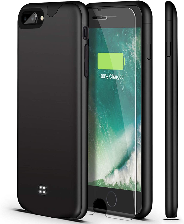 Battery Case for iPhone 8 Plus/7 Plus,U-good Ultra Slim/Lightweight 4200mAh Portable Charging Case Rechargeable Charger Case for iPhone 8 Plus/7 Plus(5.5 inch) Extended Battery Pack (Black)