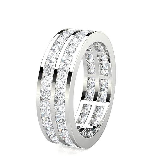 DND - Anillo de boda de 1,98 quilates (quilates) con forma redonda