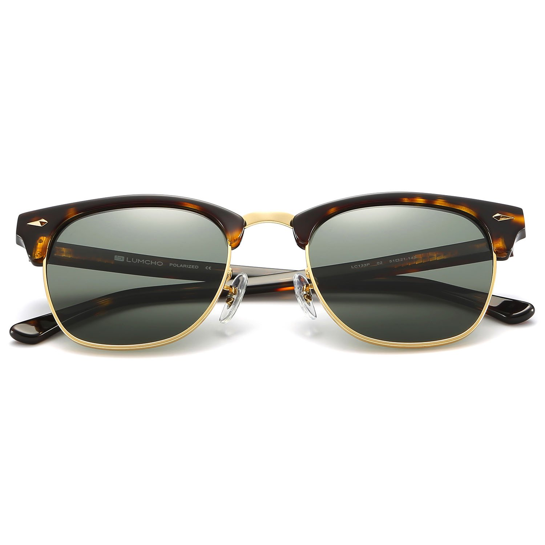 Clubmaster Sunglasses for Men Women, 2018 Innovative Design Polarized Sunglasses, High-Definition lens 100% UVA/UVB Protection by LUMCHO