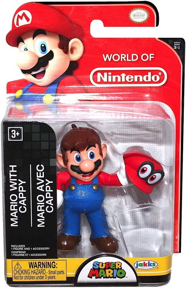 Mario with Cappy Super Mario 2.5 Action Figure