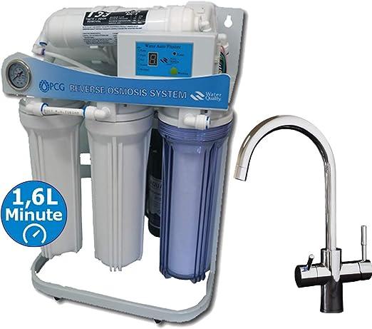 PUR Booster - Sistema de ósmosis inversa de flujo directo, 5 ...