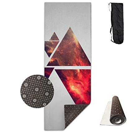 Amazon com: Abstract Structure Pyramids Deluxe,Yoga Mat