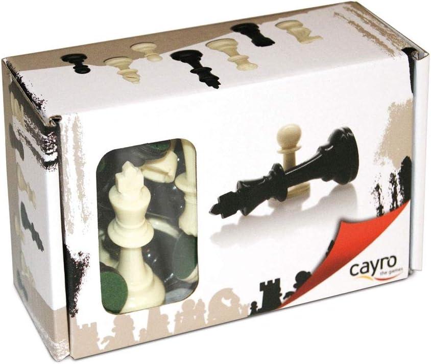 Cayro - Accesorios de Ajedrez Nº3 - Juego de Tradicional - Juego de Mesa - Desarrollo de Habilidades cognitivas - Juego de Mesa (090C): Amazon.es: Juguetes y juegos