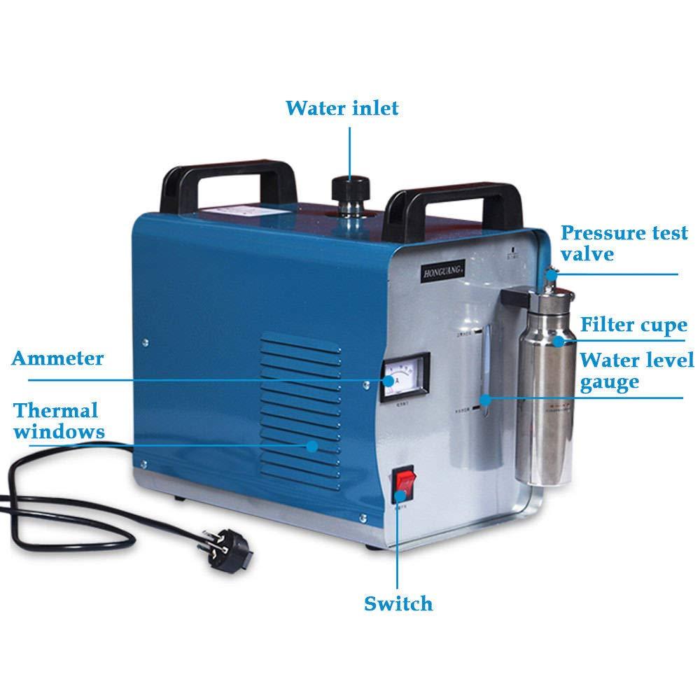 Pulidor de acrílico del soldador de la máquina pulidora de la llama del agua del hidrógeno del oxígeno de 220V 75L / h: Amazon.es: Bricolaje y herramientas