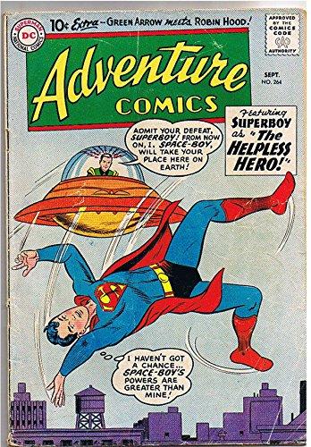 ADVENTURE COMICS #264,GD, Superboy, Space, 1959, Aquaman , Sea Police