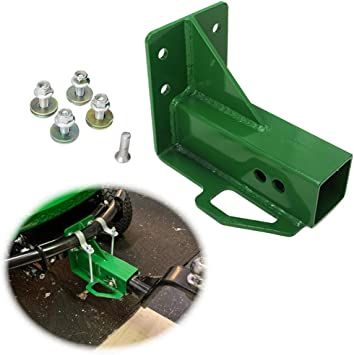 ELITEWILL Green Rear Trailer Hitch Receiver Fit for John Deere Gator 4x2 6x4 Old Style with Bolt