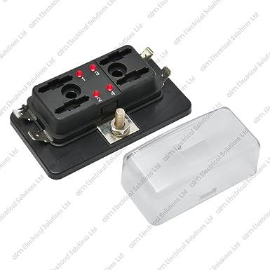 61v2wLkRtcL._SX385_ 4 way blade fuse box holder bus bar with led failure warning 12v