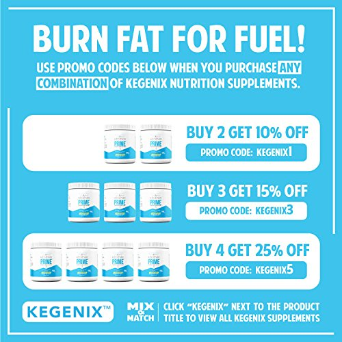 14 day Kegenix PRIME - Keto Supplement | Patented Keto Drink with BHB & MCT - Energetic NEW & IMPROVED FLAVOR LEMON TWIST | Now 28 SERVINGS