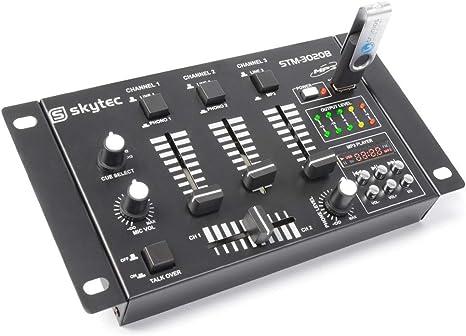 Skytec 172976 - Stm-3020 mezclador de 4 canales con usb/mp3 negro ...