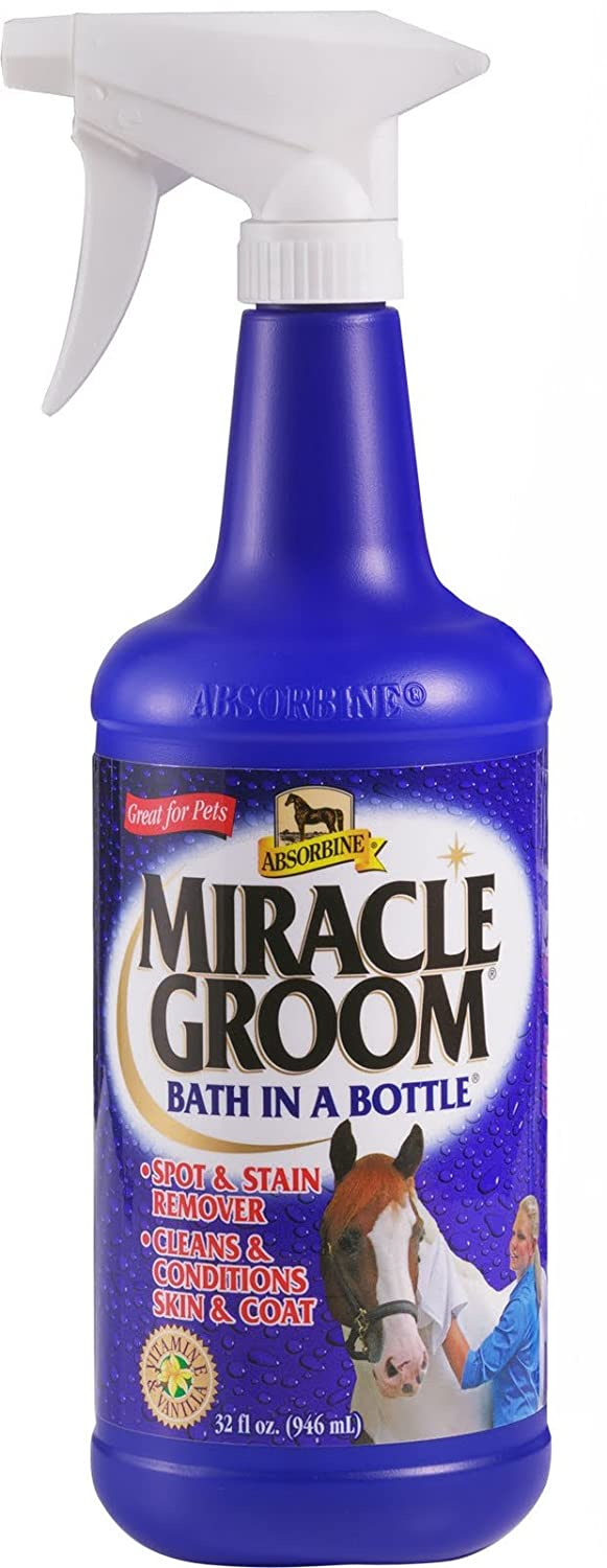 Absorbine Miracle Groom 946ml - Clean, conditions, deodorises, detangles and shines in one application with no need for water. William Hunter Equestrian