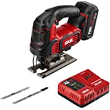 """SKIL PWR CORE 20 Brushless 20V 1"""" Stroke Jigsaw, Includes 2.0Ah Lithium Battery with PWR ASSIST USB & PWR JUMP Charger - JS82"""