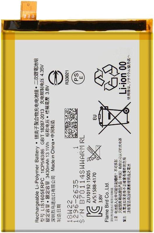 E6853 Replacement Battery LIS1605ERPC Free Adhesive Tool for Sony Xperia Z5P Z5 Premium Dual E6883