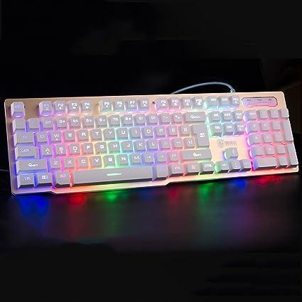 Teclados para gamers teclado para juegos oficina panel de ...