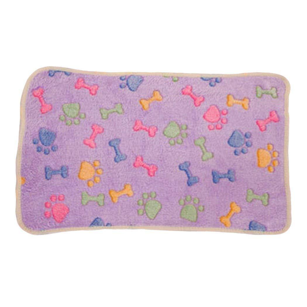 ANDRE HOME Cat Blanket Soft Pet Dog Blanket Animal Footlprint Stampato Pet Bed Cover Pet Mat for Dogs Cats (L) Pet Bed Blanket