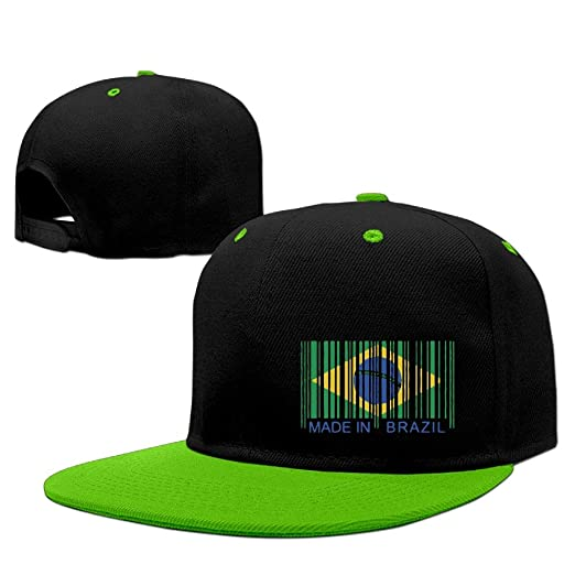 274ff8b8a9e Unisex Plain Hip Hop Baseball Hat Made in Brazil Cotton Sun Cap at Amazon  Men s Clothing store