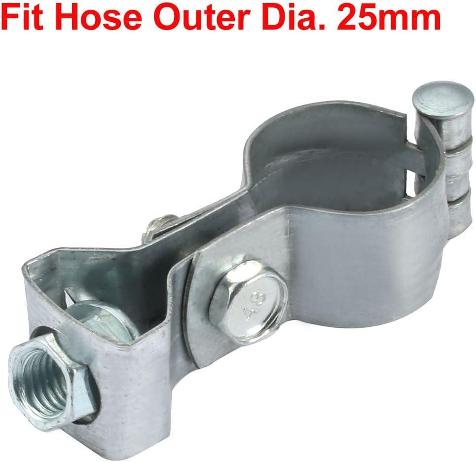 sourcing map 2pz ferro placcato zinco fascetta stringitubo per 25mm Diametro esterno tubo con M10 testa appesa