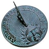 cast iron sundial - Rome 2518 Daybreak Sundial, Cast Iron with Verdigris Finish, 10.5-Inch Diameter