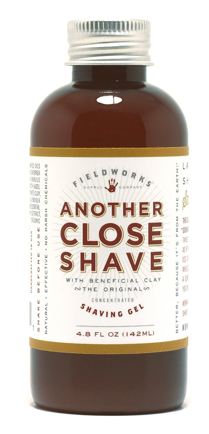 Organic Natural Shave Gel For Sensitive Skin. Shea Butter, Aloe, Bentonite and Soothing Essential Oils, Super Slick, Super Concentrated by Another Close Shave
