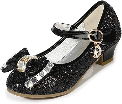 Little Girls Bow Mary Jane Pumps Dress Shoes Princess Girls Shoes