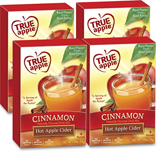 True Apple: Hot Apple Cider Cinnamon | 4 boxes; 24ct total drink mix packets (Apple Cider) | From the makers of True Citrus (True Lemon)… by True Citrus