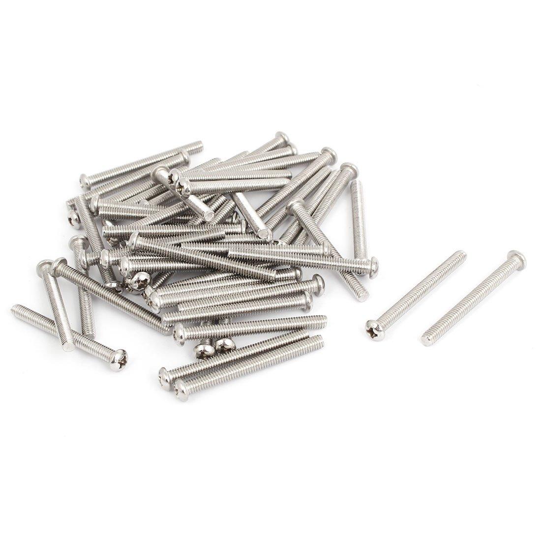 M4 x 35mm M4x35mm Knobs Screws Drawer Pull Handle Screws 304 Stainless Steel Phillips Machine Screws 50pcs