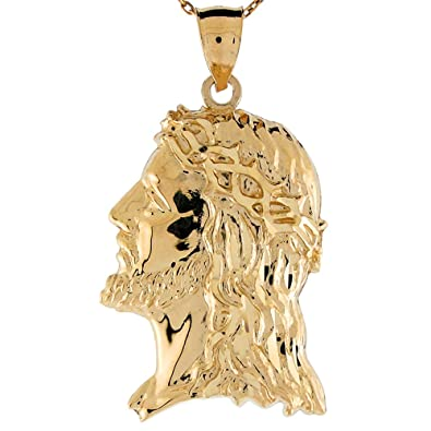 Amazon 14k yellow gold jesus head profile religious charm 14k yellow gold jesus head profile religious charm pendant aloadofball Choice Image