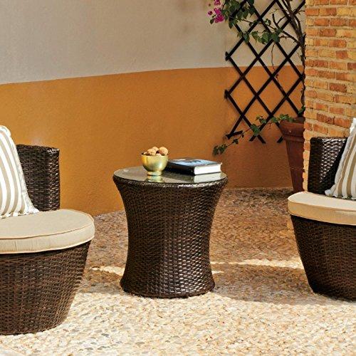 100pourcentcoton-Set de mesa y sillas de jardín resina trenzada, 2 ...