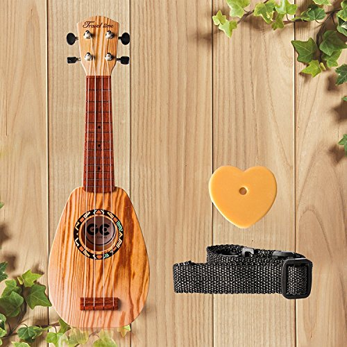 17 Inch Guitar Ukulele Toy For Kids ,Guitar Children Educational Learn Guitar Ukulele With the Picks and Strap Can Play Musical Instruments Toys (17 Inch) - Image 1
