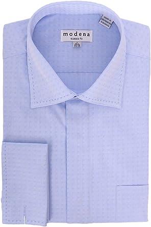 Mens Classic Fit Spread Collar Dress Shirt Rock Grey