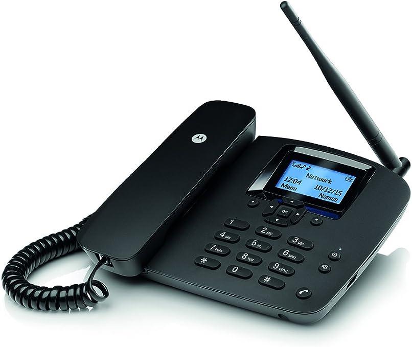 Motorola FW200L - Teléfono (Altavoz, 1000 Entradas, Identificador de Llamadas, Servicios de Mensajes Cortos), Negro: Amazon.es: Electrónica
