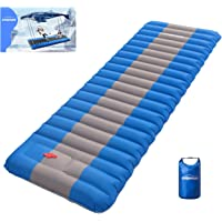 Overmont Extra 4.7in Thickness Sleeping Pad 26in Width Inflatable Camping Mat Ultimate Air Mattress Built-in Pump…