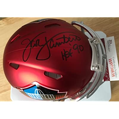 745bf191259 Jack Lambert Signed Autograph Hall Of Fame Blaze Mini Helmet JSA Certified Pittsburg  Steelers