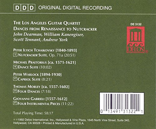 L.A. Guitar Quartet: Dances from Renaissance to Nutcracker by Delos