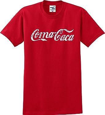 de38a824bde907 Amazon.com: Coma-Caca Coca-Cola Parody Funny T-Shirt (S-5X): Clothing